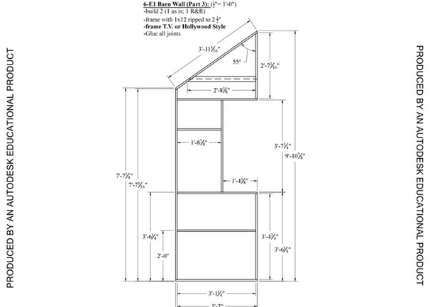 Construction DWGs for Barn Wall (Part3) Framing